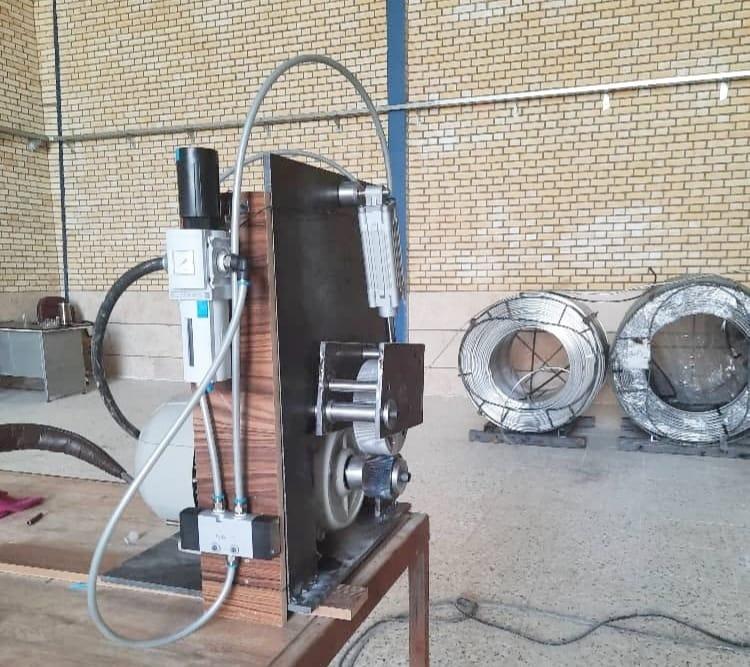 بومی سازی ، طراحی و ساخت ماشین تزریق وایر در شرکت آتیه فولاد معدن پارسیان